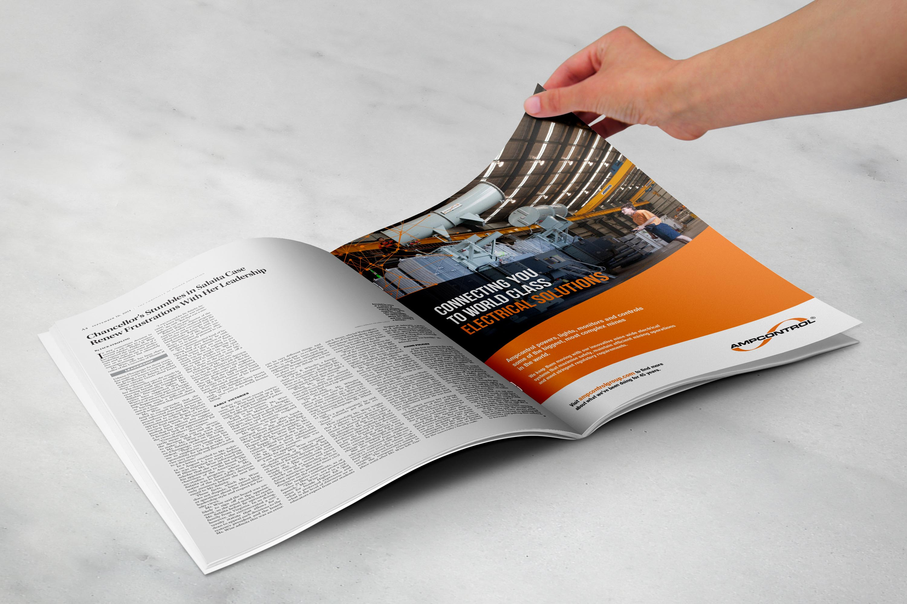 Ampcontrol Press Advertisement - Full Page. By Design Bug