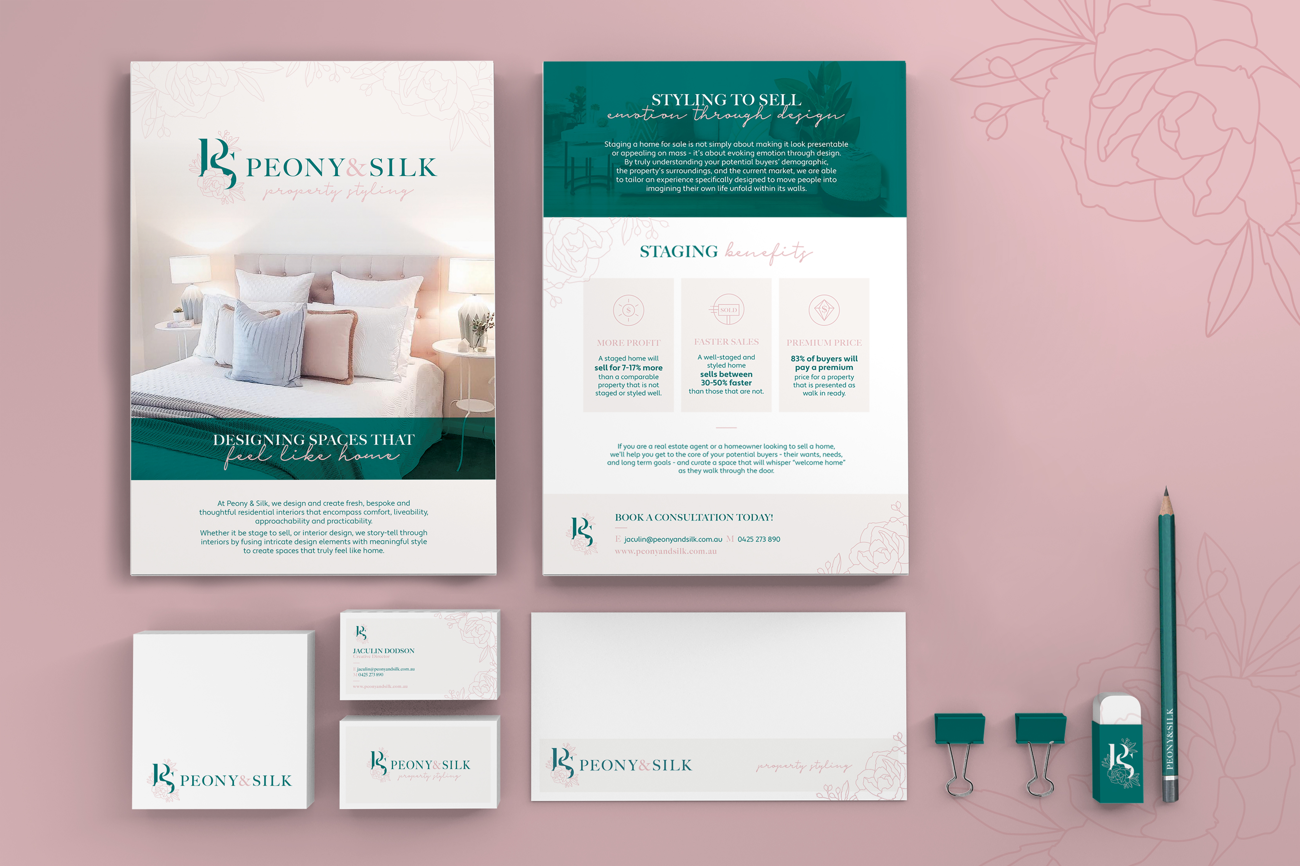 Peony and Silk Marketing Materials