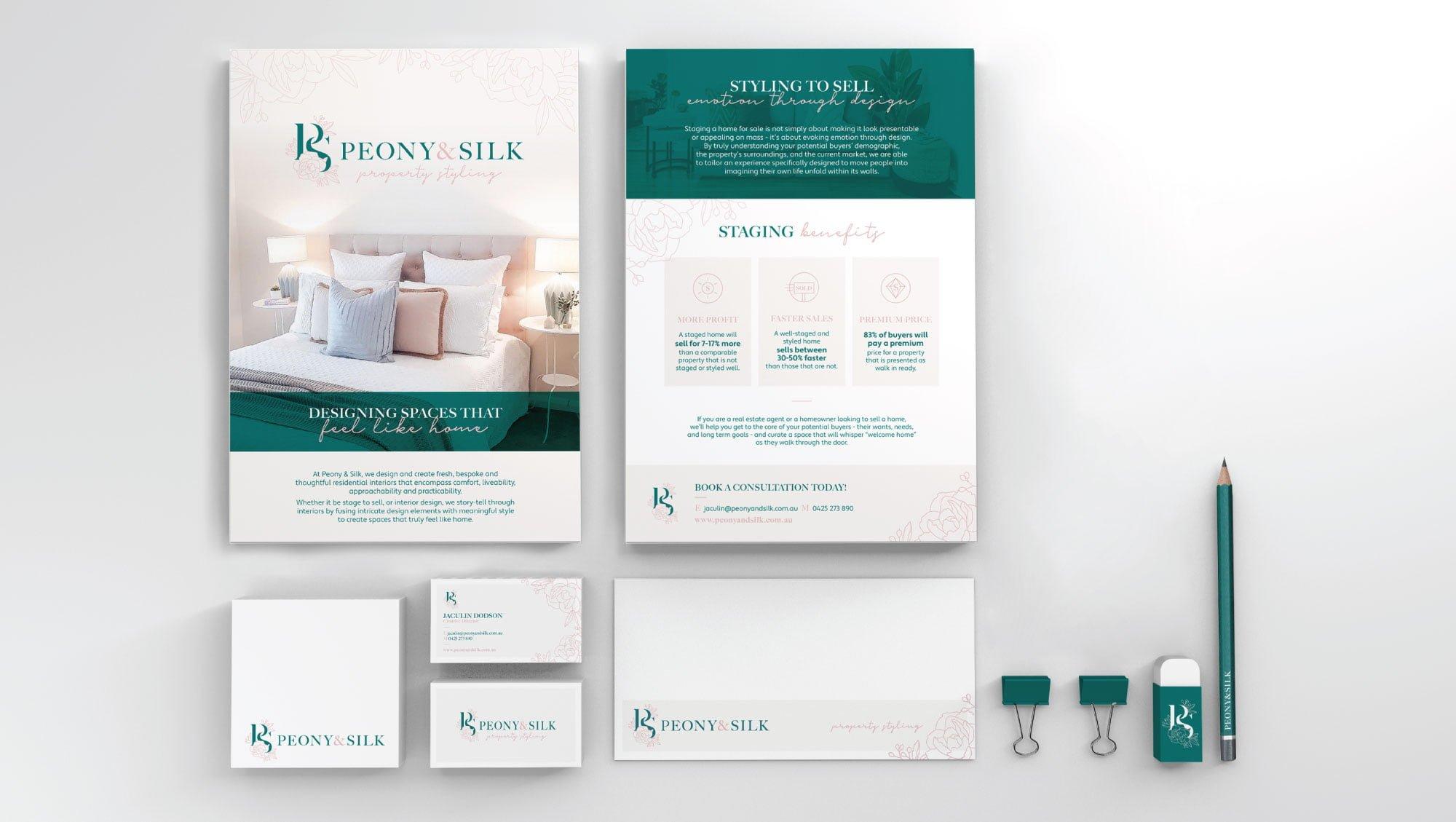 Peony & Silk - Branding Material