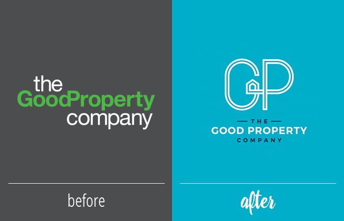 Before and After Logo - Good Property