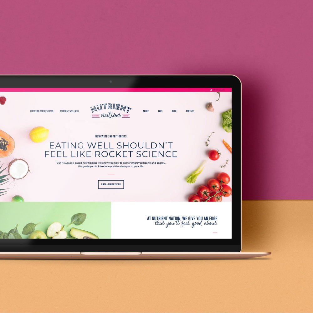Nutrient Nation - Web Design