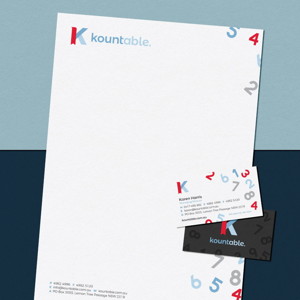 Kountable - Stationery Design